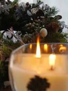 le bijou クリスマスキャンドルとクリスマスリース